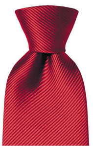 Hemley Uni Zijden Stropdas Red