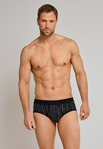 Schiesser Feinripp Sports Brief Gestreept Zwart