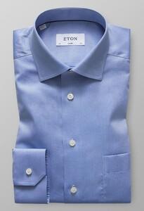 Eton Uni Signature Twill Pastel Blauw