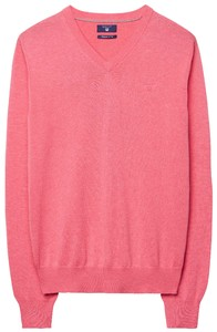 Gant Cotton V-Neck Coral Pink