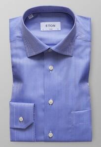 Eton Herringbone Twill Diep Blauw