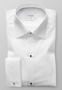 Eton Plissé Black Tie Mouwlengte 7 Wit