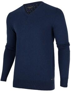 Cavallaro Napoli Tomasso V-Neck Midden Blauw